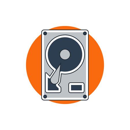 hard drive: hard drive disk icon