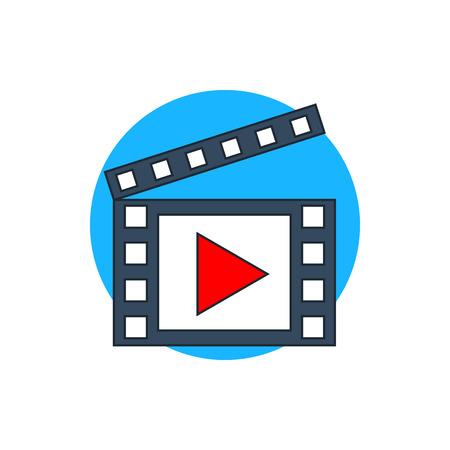 icono de vídeo Ilustración de vector