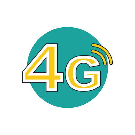 4g: 4g mode technology icon