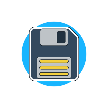 record office: floppy disk icon
