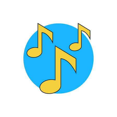 key signature: music notes icon