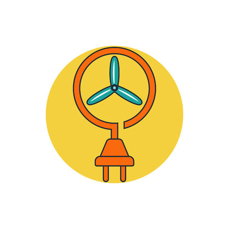 powerstation: wind energy icon Illustration