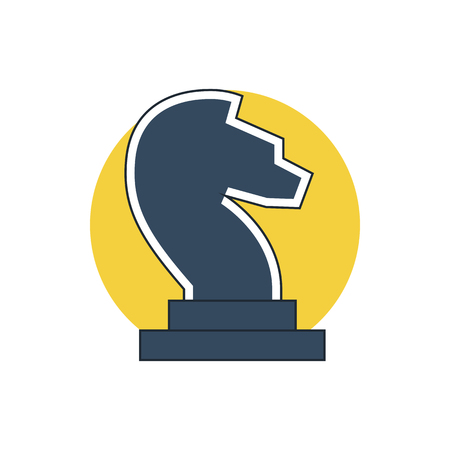 chess knight: chess knight icon Vectores