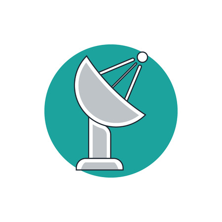 TV antenna icon Illustration