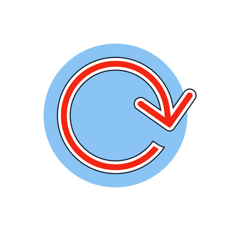 loop: flecha icono de bucle