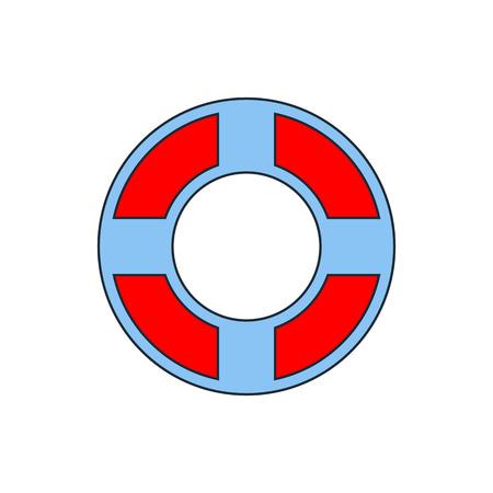 life jackets: Life buoy icon Illustration