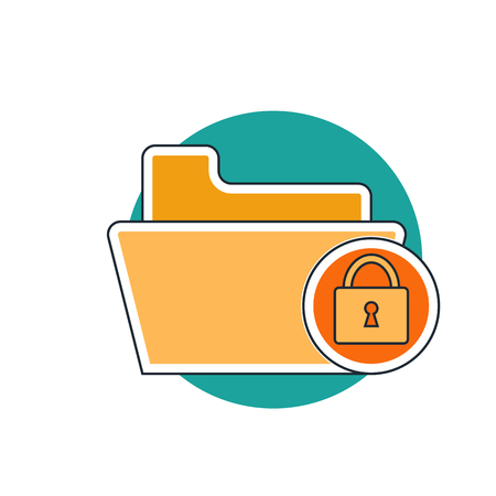folder icon: lock folder icon Illustration