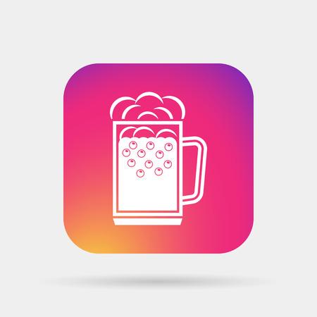 pint glass: beer glass, beer mug icon Illustration