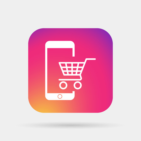 new account: e-commerce icon Illustration