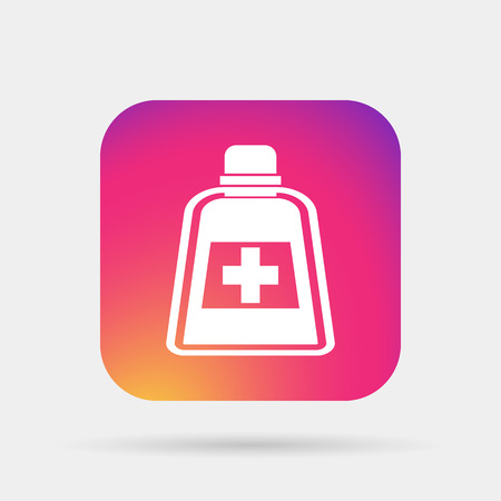 prescription bottles: medicine bottle icon Illustration