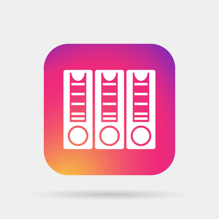 classify: binders icon Illustration