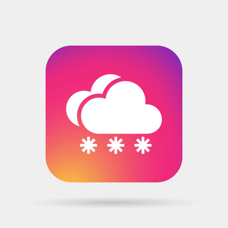 snow cloud meteo icon