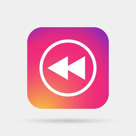 fast back rewind media player icon