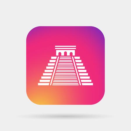 Mayan Pyramid, landmark icon