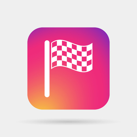 accomplishments: start  finish flag icon Illustration