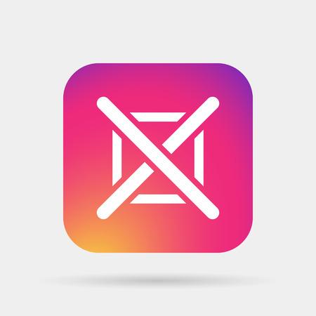 check mark icon: no check mark icon Illustration