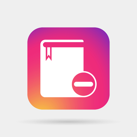 remove book icon Illustration