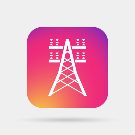 insulators: electric lines icon Illustration