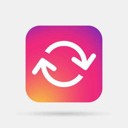 orientation marker: arrows loop icon Illustration