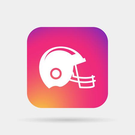 football helmet: american football helmet icon