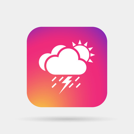 meteo: lightning rain cloud sun meteo icon