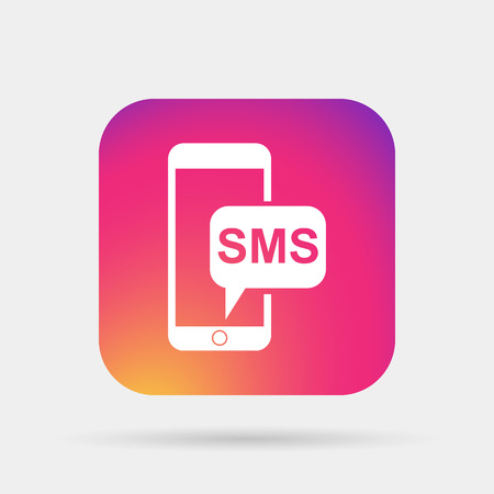 sms: sms smartphone icon Illustration