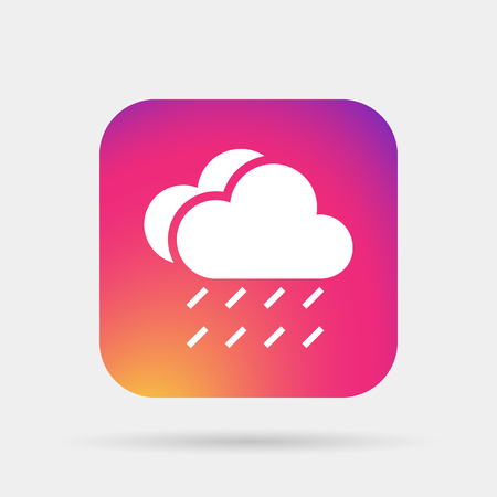 meteo: rain cloud sun meteo icon