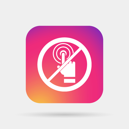 touch: no touch icon Illustration
