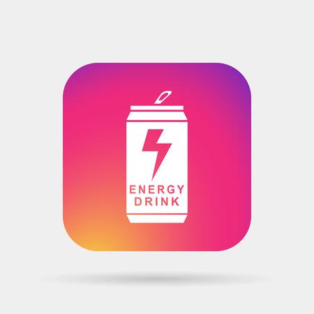 bebida energética icono Ilustración de vector