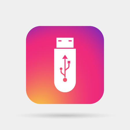 usb flash: usb flash icon