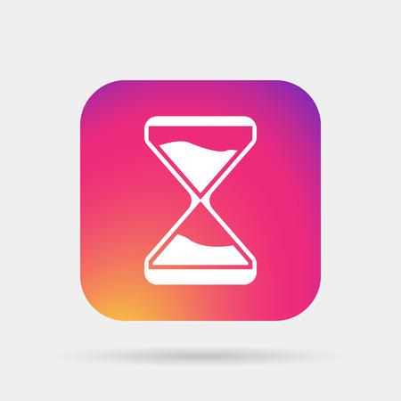 clock glass icon