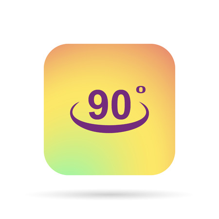 90: rotate, turn 90 icon Illustration