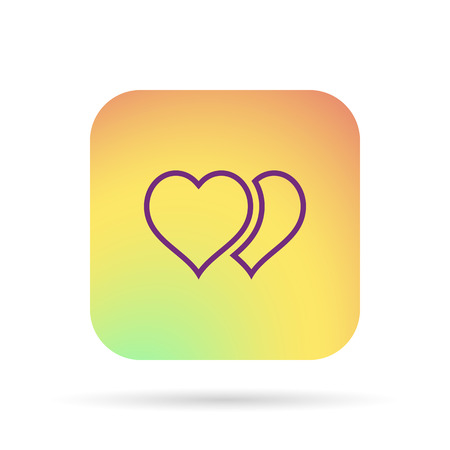 outline hearts icon