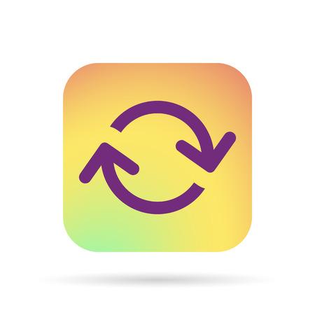 the loop: icono de bucle flechas