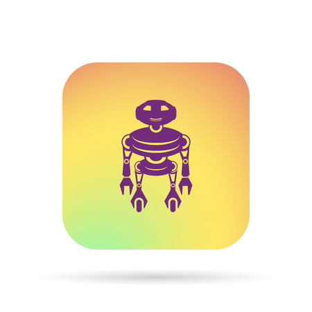 droid: robot, droid icon Illustration