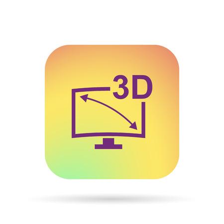 icon 3d: 3d tv icon
