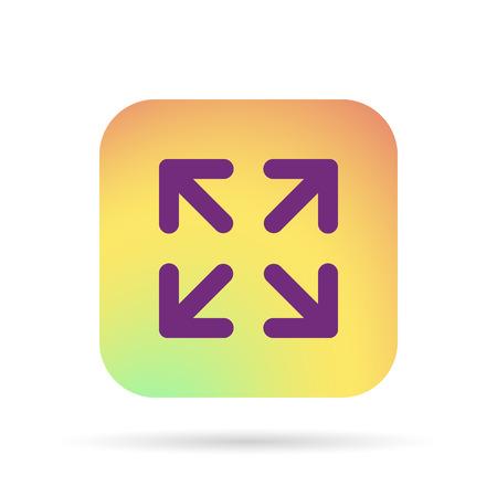 size: arrows change size icon Illustration