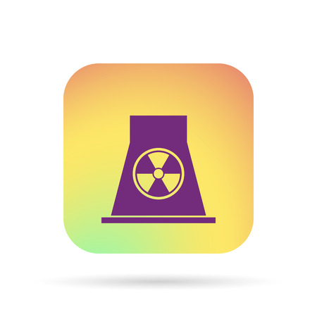 caution chemistry: nuclear Power Plant icon Illustration