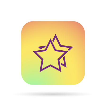 outline stars favorite or best choice icon Illustration