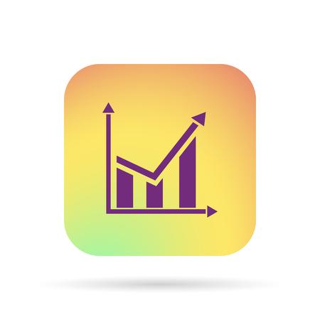 demografia: chart icon Vectores
