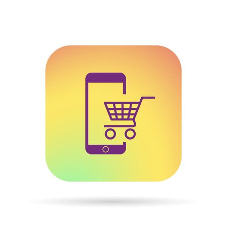 new account: e-commerce icon Illustration