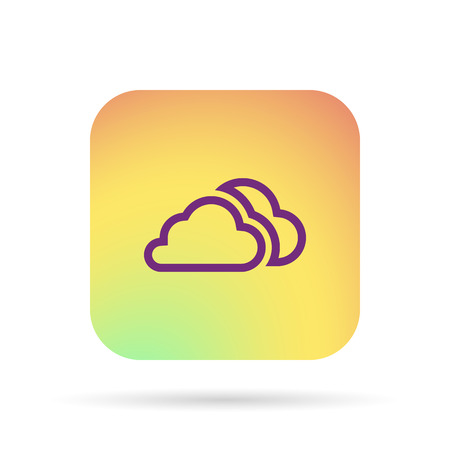 simplus: outline clouds icon Illustration