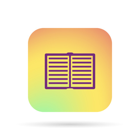 open book icon Illustration
