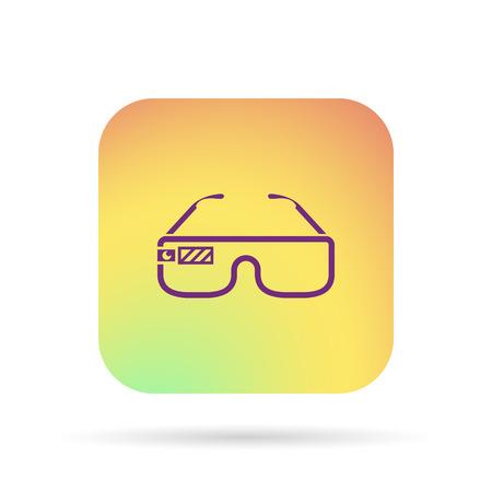Virtual glasses icon Çizim