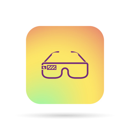 Virtual glasses icon Stock Illustratie