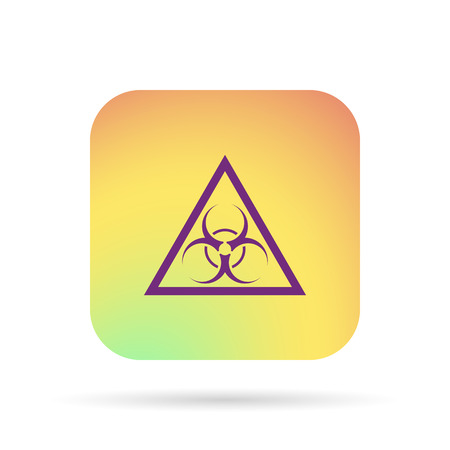 trash danger: bio hazard symbol