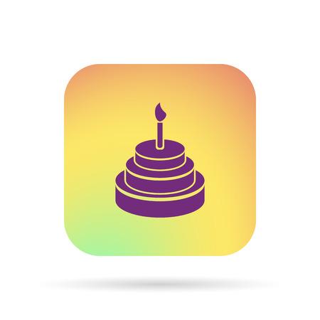 Birthday cake icon Illustration