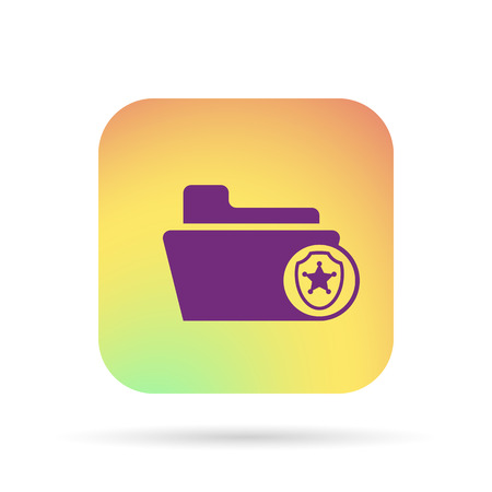 ptotection folder icon Vector Illustratie