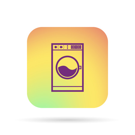 washhouse: washing machine icon Illustration