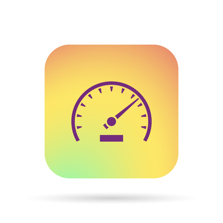 rev counter: tachometer sign Illustration